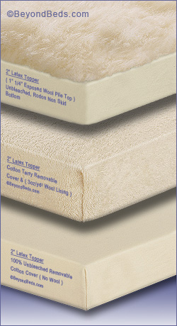 Latex Mattress Toppers Gel Layer 2inch