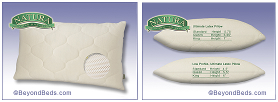 ultimate pillows feature a solid talalay latex core ultimate latex pillow provide resilient cradling support instantly adjusting to the unique contours of