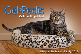 Gelpedic Cat Bed Nesting Shaped Memory Gel Foam Cat Beds