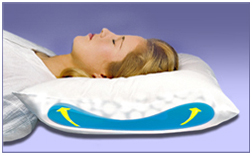 this therapeutic cervical pillow features a fillable water bladder a thermal insulator fully encases the water bladder preventing body heat from being