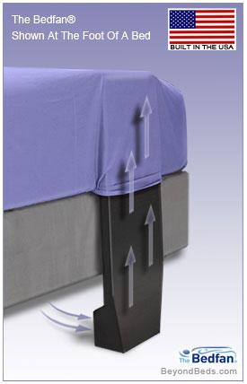 Bedfan - Original Patented Black Model at BeyondBeds.com